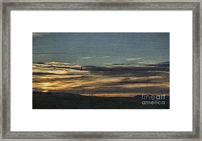 Quiet Storm Framed Print by Janice Rae Pariza