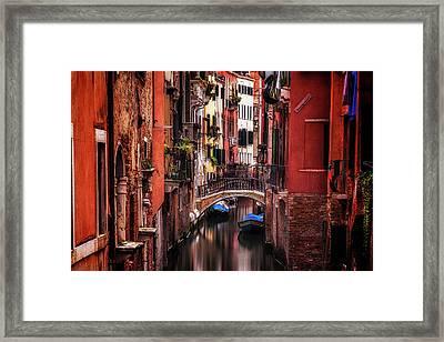 Quiet Venice Framed Print by Andrew Soundarajan