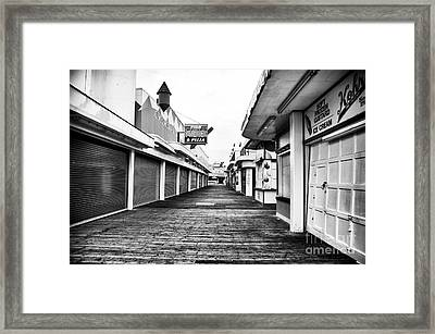 Quiet Walk Framed Print by John Rizzuto