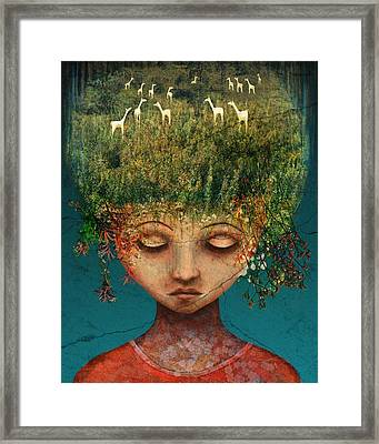 Quietly Wild Framed Print by Catherine Swenson