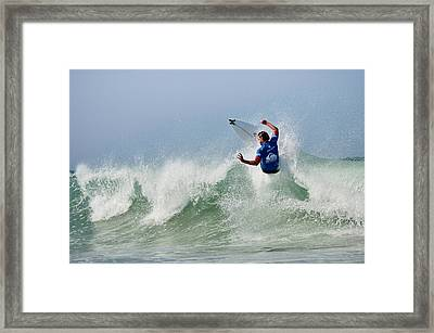 Framed Print featuring the photograph Quiksilver Pro France I by Thierry Bouriat