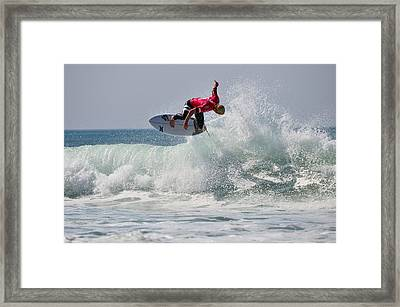 Framed Print featuring the photograph Quiksilver Pro France II by Thierry Bouriat