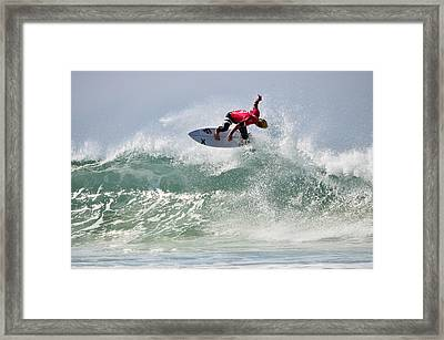 Framed Print featuring the photograph Quiksilver Pro France Iv by Thierry Bouriat