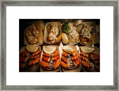 Shrimp Sandwich Framed Print by Michelle Saraswati