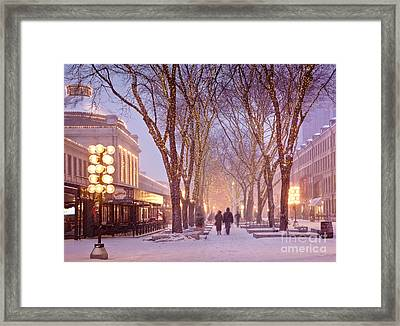 Quincy Market Stroll Framed Print by Susan Cole Kelly