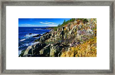 Quoddy Head Ledge Framed Print by Bill Caldwell -        ABeautifulSky Photography