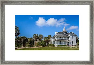 Rabb Plantation - Visitors Center Of Sabal Palm Sanctuary Framed Print by Debra Martz