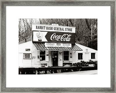 Rabbit Hash General Store- Photogaphy By Linda Woods Framed Print by Linda Woods