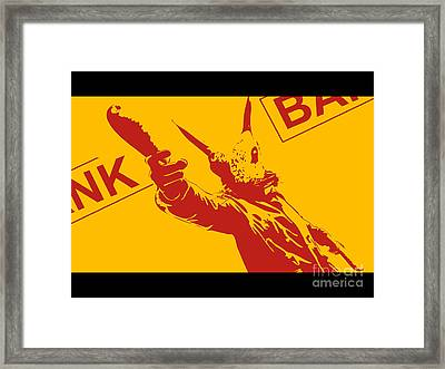 Rabbit Heist Framed Print by Pixel  Chimp