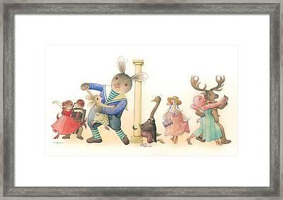 Rabbit Marcus The Great 24 Framed Print by Kestutis Kasparavicius