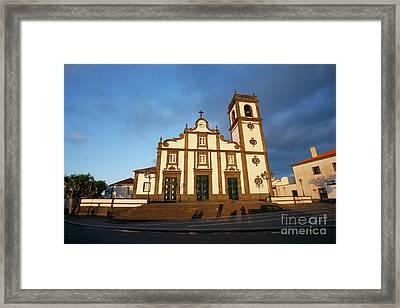 Rabo De Peixe Church Framed Print by Gaspar Avila