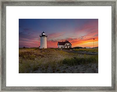 Race Point Light Sunset 2015 Framed Print by Bill Wakeley