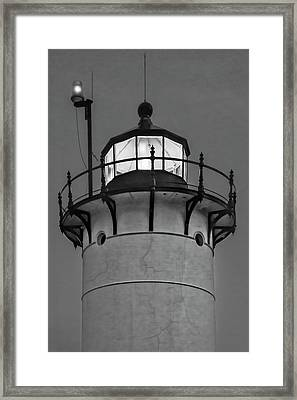 Race Point Lighthouse New England Bw Framed Print by Susan Candelario