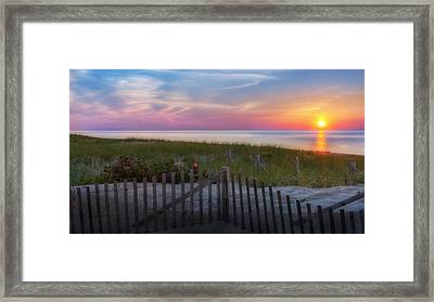 Race Point Sunset Cape Cod 2015 Framed Print by Bill Wakeley