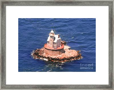 Race Rock Lighthouse Framed Print by William Petri