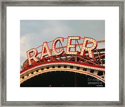 Racer Coaster Kennywood Park Framed Print by Jim Zahniser