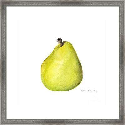 Rachel's Pear Framed Print by Fran Henig