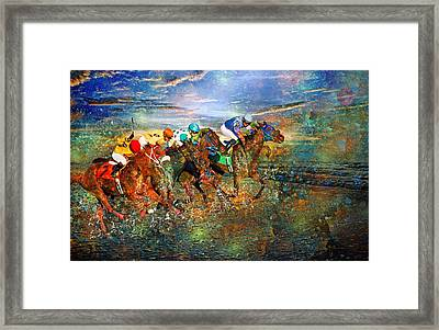Racing Energy II Framed Print by Betsy Knapp