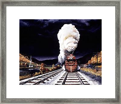 Racing The Storm Framed Print by David Mittner