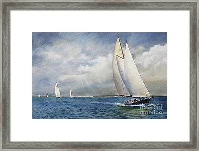 Racing The Wind Framed Print by Karol Wyckoff