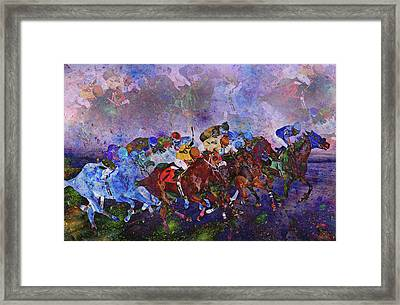 Racing With Ghosts Framed Print by Betsy C Knapp