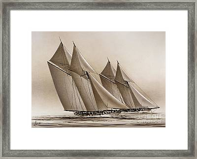 Racing Yachts Framed Print by James Williamson