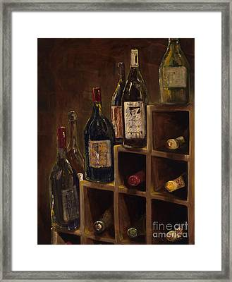 Rack Of Wine Framed Print by Jodi Monahan