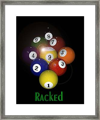 Racked Framed Print by Draw Shots