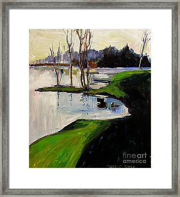 Raders Chilled A Day Later Framed Framed Print by Charlie Spear