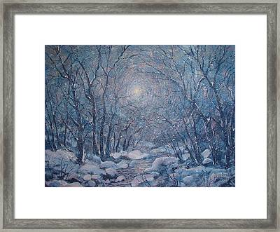 Radiant Snow Scene Framed Print by Leonard Holland