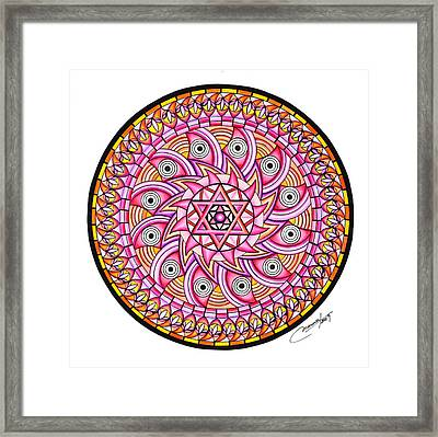 Radiant Sun Framed Print by Marcia Lupo