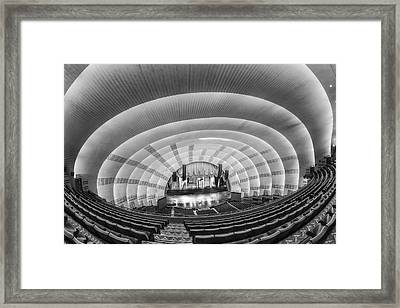Radio City Music Hall Bw Framed Print by Susan Candelario