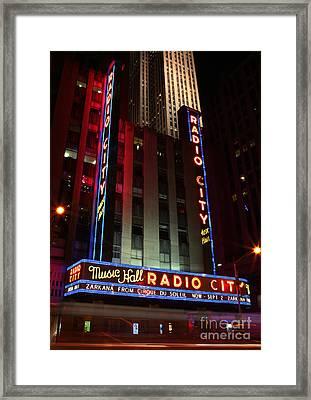 Radio City Music Hall Cirque Du Soleil Zarkana Framed Print by Lee Dos Santos