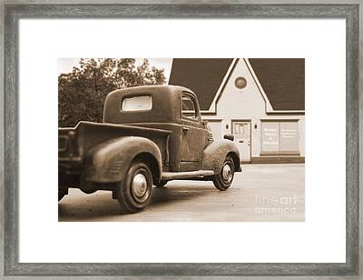 Radio Sales And Service Framed Print by Edward Fielding