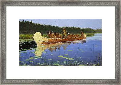 Radisson And Groseilliers Framed Print by Frederic Remington