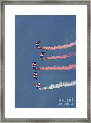 Raf Parachute Display Team Framed Print by Stephen Smith