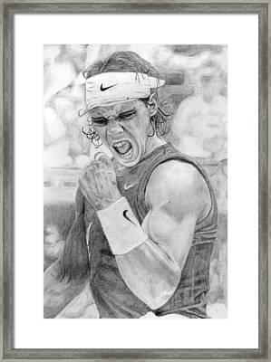 Rafael Nadal Framed Print by Alexandra Riley