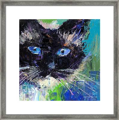 Ragdoll Cat Painting Framed Print by Svetlana Novikova