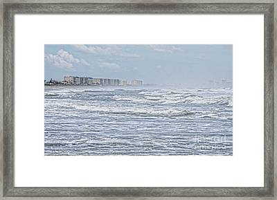 Raging Waters Framed Print by Deborah Benoit