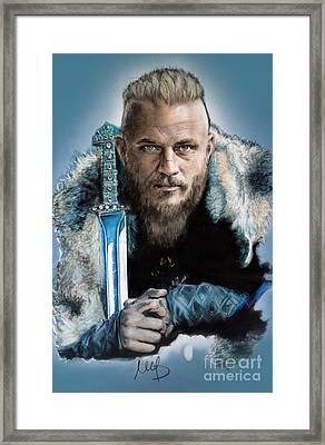 Ragnar Lothbrok Framed Print by Melanie D