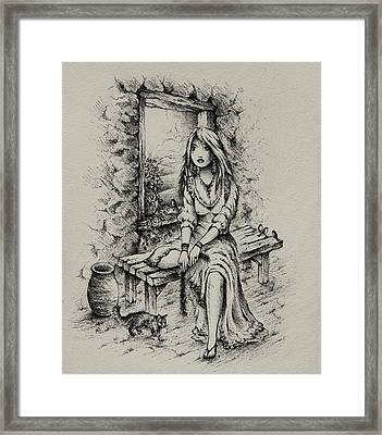Rahab Framed Print by Rachel Christine Nowicki