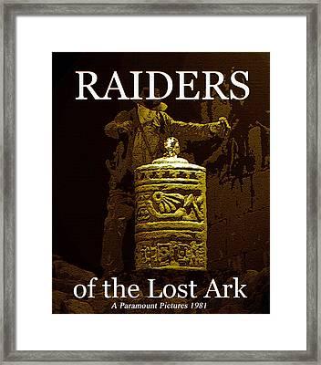 Raiders Classic 1930 Serials Work Framed Print by David Lee Thompson