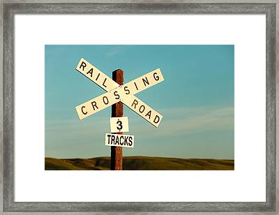Railroad Crossing Framed Print by Todd Klassy
