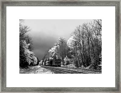 Railroad Landscape Framed Print by David Patterson