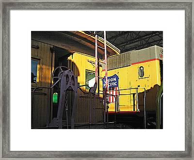 Railroad Museum 5 Framed Print by Steve Ohlsen