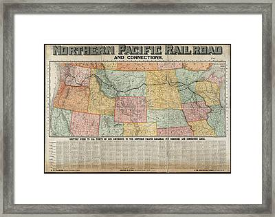 Railroad Shipping Guide Map 1904 Framed Print by Daniel Hagerman