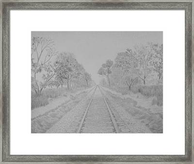 Railroad To Nowhere Framed Print by Kyle Homer