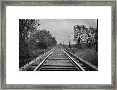 Railroad Tracks Framed Print by Matthew Angelo