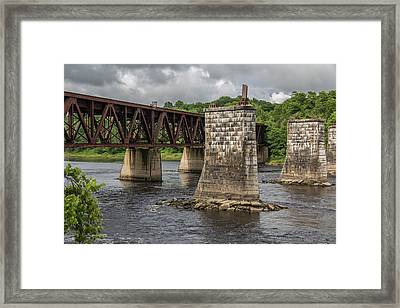 Railroad Trestle Framed Print by Laurie Breton