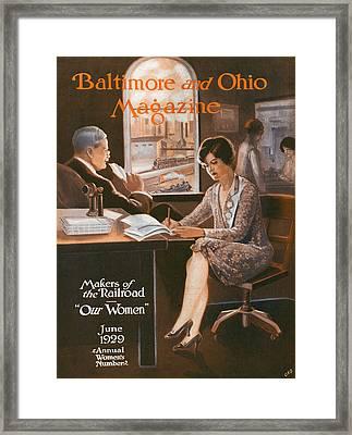 Railroad Women Framed Print by Charles Dickson